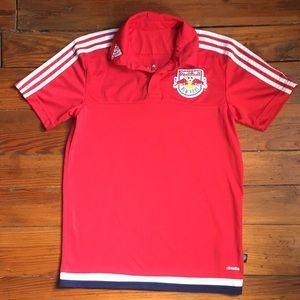 NY Red Bull Adidas Soccer Jersey Men's Small